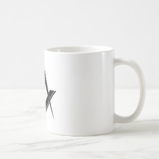 Modern Square and Compass Coffee Mug