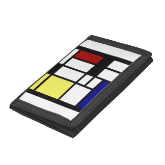 Modern Square Art Trifold Wallets