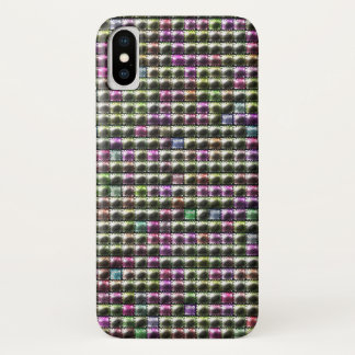 Modern square multicolored pattern iPhone x case