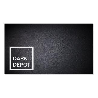 Modern Square Stamp Black Business Card