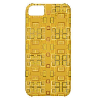 Modern squares mosaic pattern yellow cover for iPhone 5C