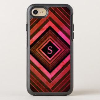 Modern Squares Rustic Pink Geometric Monogram OtterBox Symmetry iPhone 8/7 Case