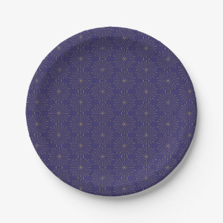 Modern Starburst For New Year's Paper Plates
