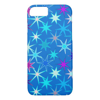 Modern Starburst Print, Deep Cerulean Blue iPhone 8/7 Case