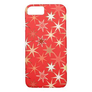 Modern Starburst Print, Deep Mandarin Orange iPhone 8/7 Case