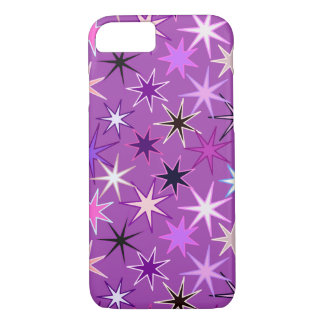 Modern Starburst Print, Violet Purple and Orchid iPhone 8/7 Case