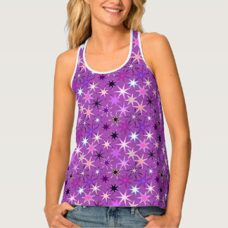Modern Starburst Print, Violet Purple and Orchid Singlet