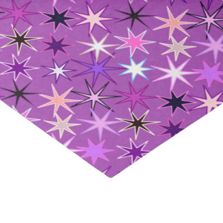 Modern Starburst Print, Violet Purple and Orchid Tissue Paper