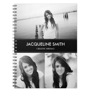 Modern Stitching Personalized Notebook