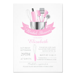 Modern Stock The Kitchen Bridal Shower Invitation