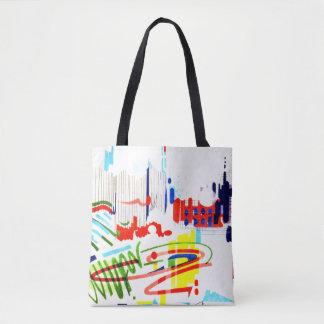 Modern Street Tiles from Lisbon's Funicular Tote Bag