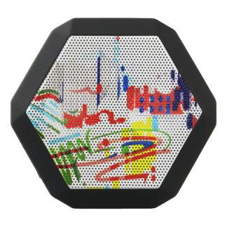 Modern Street Tiles - Lisbon Black Bluetooth Speaker