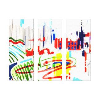 Modern Street Tiles - Lisbon Canvas Print