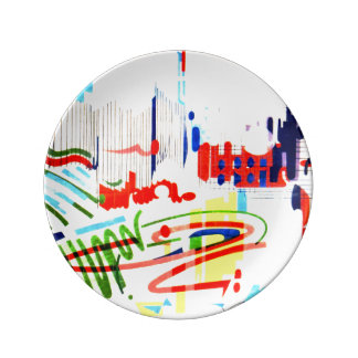 Modern Street Tiles - Lisbon Porcelain Plate