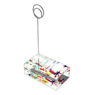 Modern Street Tiles - Lisbon Table Card Holder