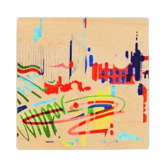 Modern Street Tiles - Lisbon Wood Coaster