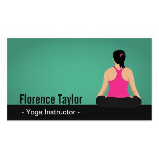 Modern, Striking, Green Yoga Instructor Pack Of Standard Business Cards