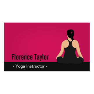Modern, Striking, Pink Yoga Instructor Pack Of Standard Business Cards