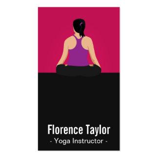 Modern Striking Pink Yoga Instructor Business Card Templates