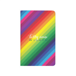MODERN STRIPE bold bright colourful rainbow Journal