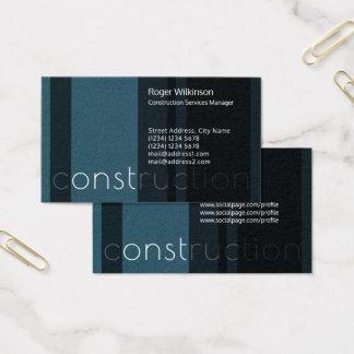 Modern stripe concrete blue black look business card