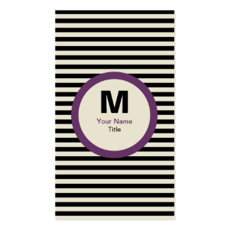Browse the Monogram Business Cards Collection and personalise by colour, design or style.