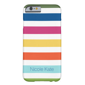modern striped fashion color monogram barely there iPhone 6 case