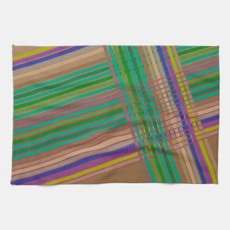 Modern striped tea towel