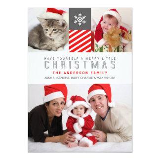 Modern Stripes Christmas Holiday Photo Flat Cards 11 Cm X 16 Cm Invitation Card