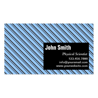 Modern Stripes Physical Scientist Business Card