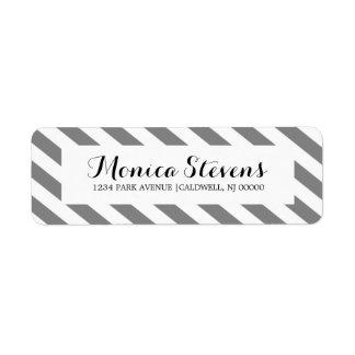 Modern Stripes Return Address Label