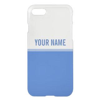 Modern Stripes Royal Blue Custom Name iPhone 7 Case