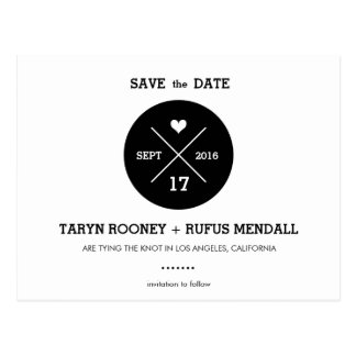 Modern Stripes Save the Date Postcard