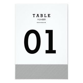 Modern Stripes Table Number 9 Cm X 13 Cm Invitation Card