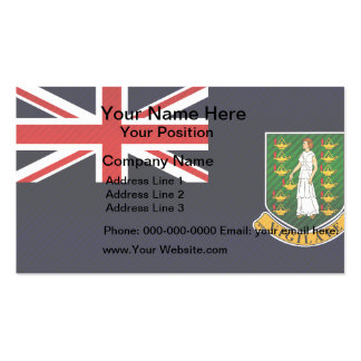 Modern Stripped B.V. Islander flag Business Card Templates