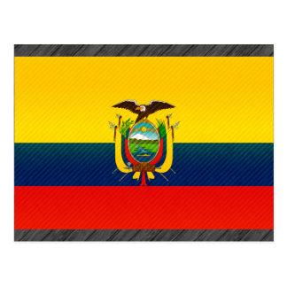 Modern Stripped Ecuadorean flag Postcard