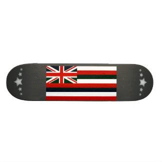 Modern Stripped Hawaiian flag Custom Skateboard