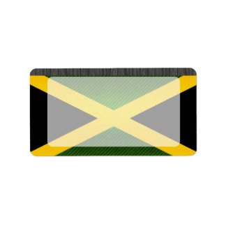 Modern Stripped Jamaican flag Address Label