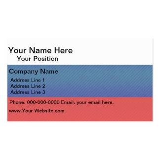 Modern Stripped Russian flag Business Card Template