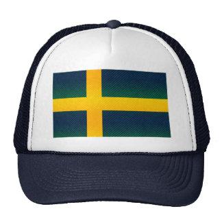 Modern Stripped Swedish flag Mesh Hat