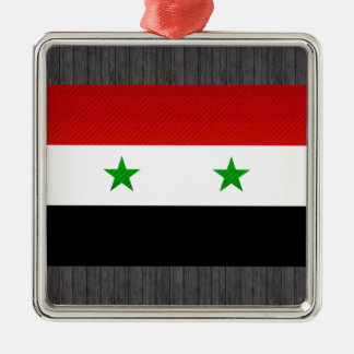 Modern Stripped Syrian flag Metal Ornament
