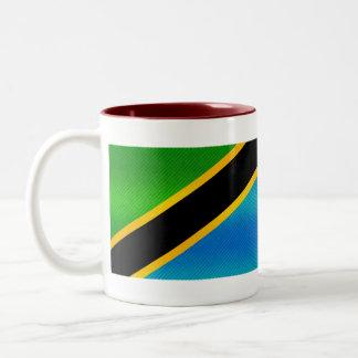 Modern Stripped Tanzanian flag Two-Tone Coffee Mug