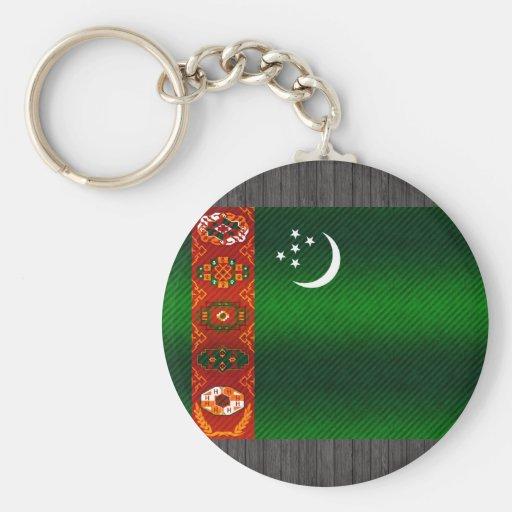 Modern Stripped Turkmen flag Keychains