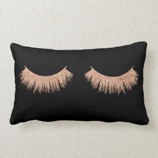 Modern Stylish Black Eyelashes Makeup Throw Pillow
