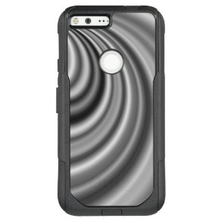 Modern Stylish Black White Silver Pattern OtterBox Commuter Google Pixel XL Case