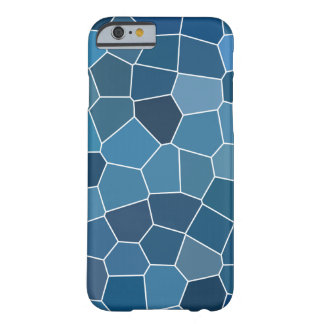 Modern Stylish Blue Pattern Barely There iPhone 6 Case