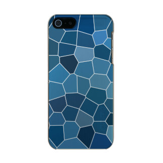 Modern Stylish Blue Pattern Incipio Feather® Shine iPhone 5 Case