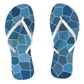 Modern Stylish Blue Pattern Thongs