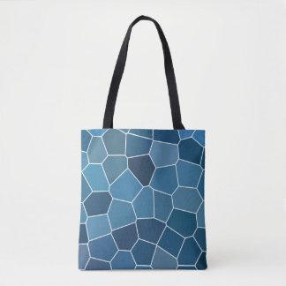 Modern Stylish Blue Pattern Tote Bag