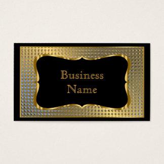 Modern Stylish Business Gold Black Metal Look